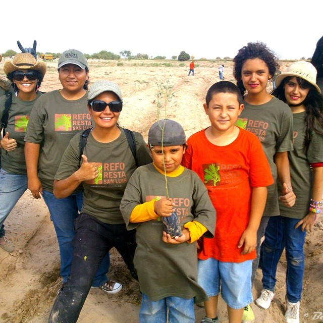 ¡La 3ra Jornada de #reforestasanluis fue todo un éxito! 1,200 árboles reforestados.