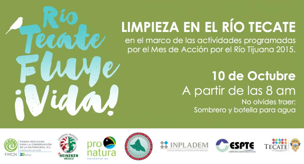 Pronatura Noroeste convoca a habitantes de Tecate a colaborar en la limpieza del Río Tecate image