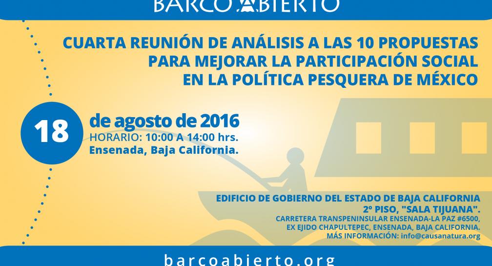 Cuarto Foro para analizar las 10 propuestas de la política pesquera en México image